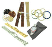 Parts & Accessories: We carry a full line of Custom Watch Accessories... Dials, Bezel, Straps, Bracelets...