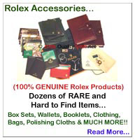 Rolex Accessories... Hang Tags, Passport Wallets & Card Holders, Boxes, Manuals & Booklets...