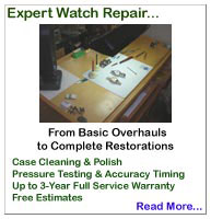 Rolex Watch Repair & Service... Complete Overhauls, Case Clean & Polish, Pressure Testing, Vintage Restoration & Refinishing... 1-Year Service Warranty on all Work... Free Estimates... Rolex Certified, Master German Watchmaker, with over 35 years experience !!!