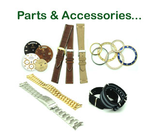 We offer a generous selection of Bands & Bracelets, from Military to Exotic Skins to 18K Solid Gold Replacement Bracelets.