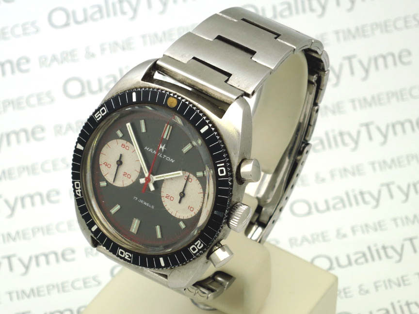 1970s hamilton diver chrono stainless steel ref 647001 for Hamilton dive watch